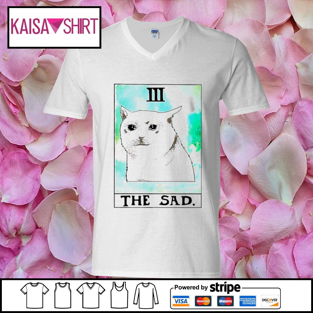 Cat 3 the sad s v-neck t-shirt