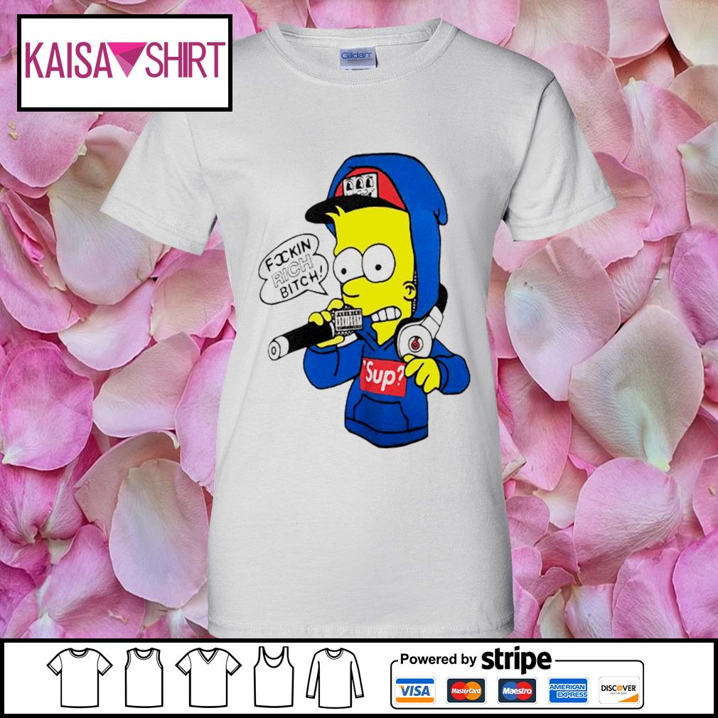 Bart Simpsons rich bitch sup s ladies-tee