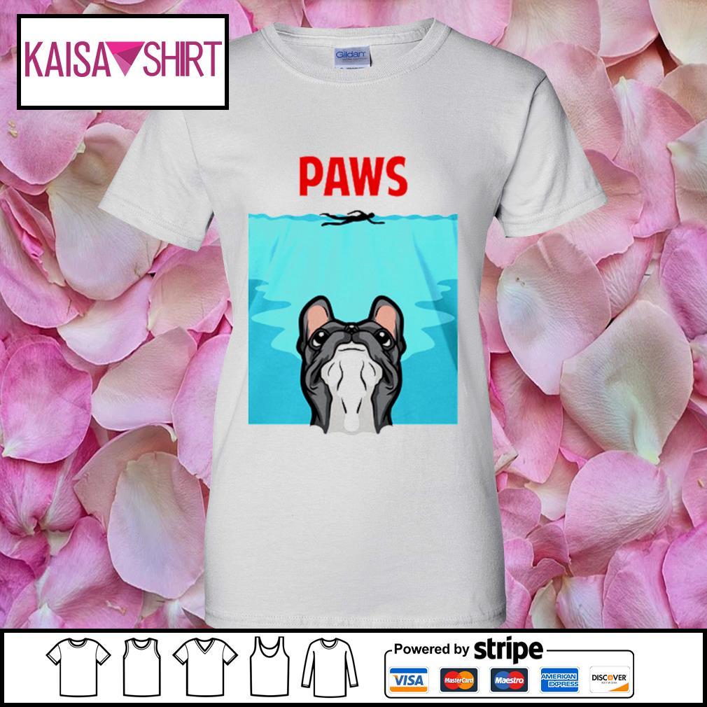 PAWS French Bulldog s ladies-tee