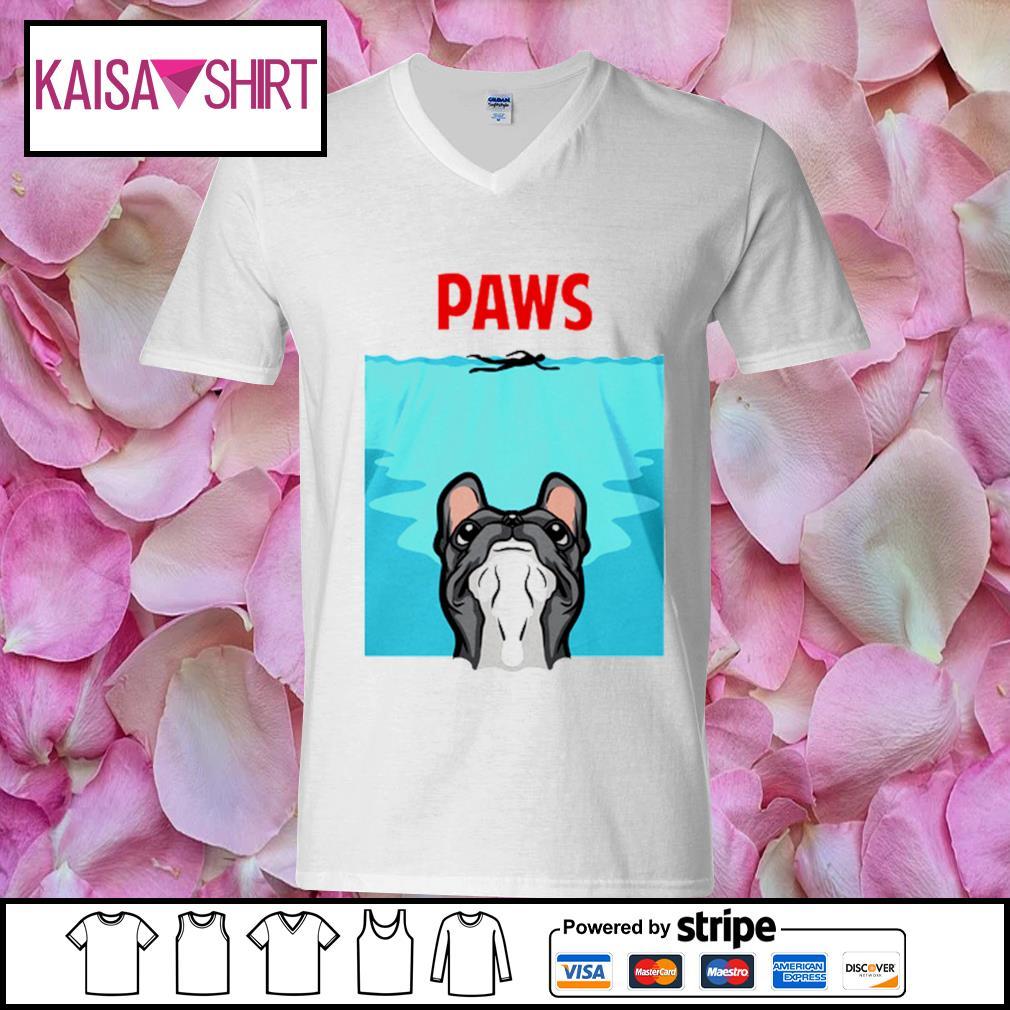 PAWS French Bulldog s v-neck t-shirt