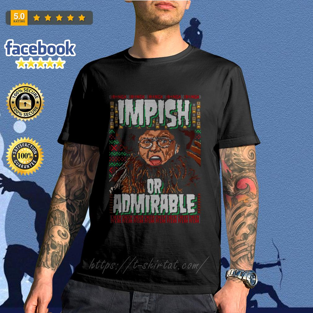 Belsnickel impish or admirable ugly Christmas shirt, sweater