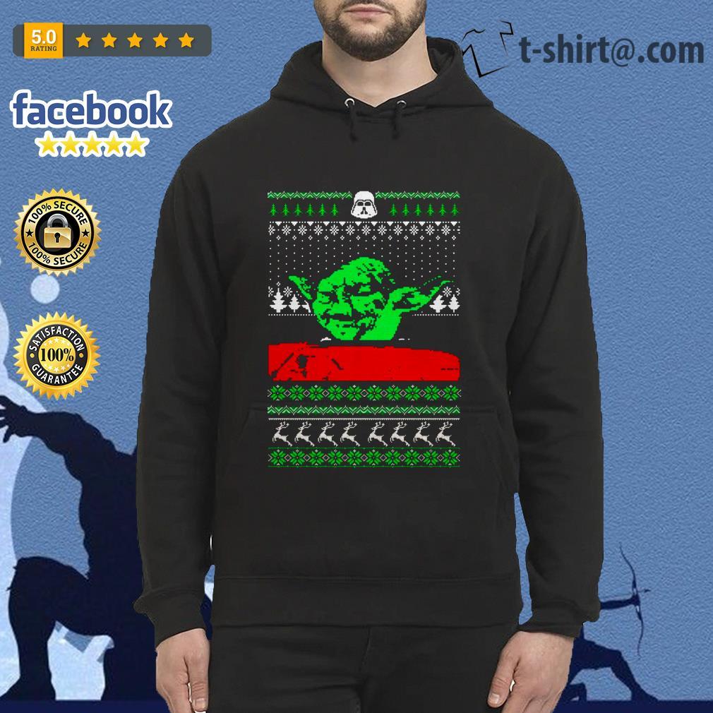 The Mandalorian Baby Yoda Mashup Dinner Cat Meme Ugly Christmas Shirt Sweater