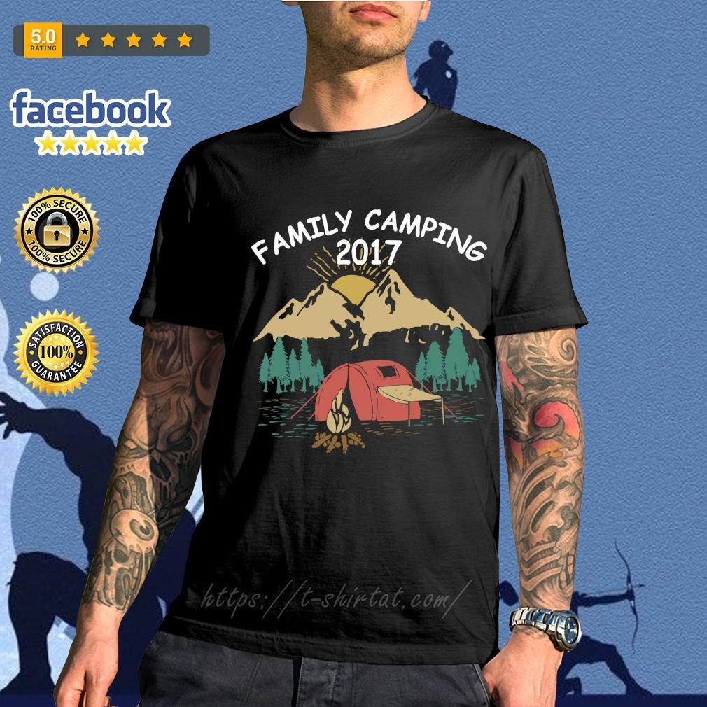 Family camping 2017 shirt