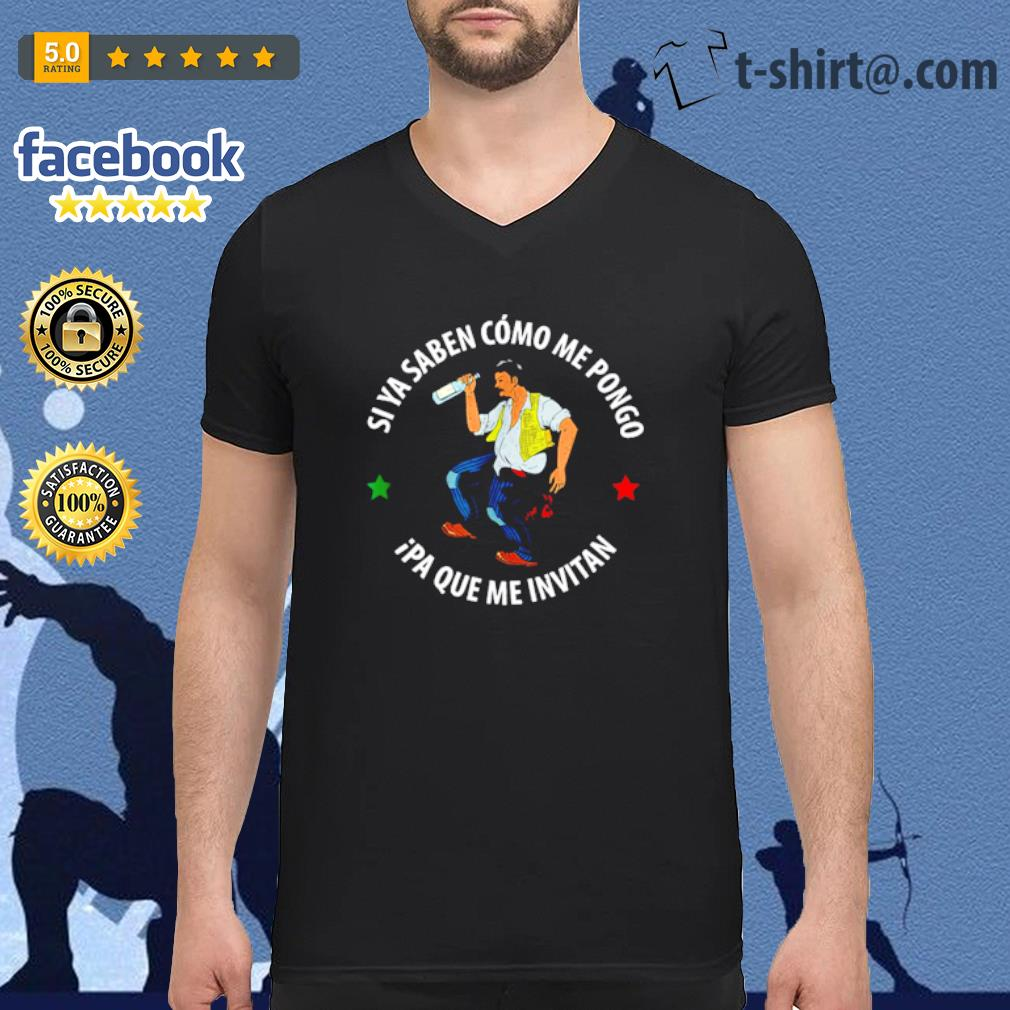 Si ya saben como me pongo ipa que me invitan drunk man s v-neck-t-shirt