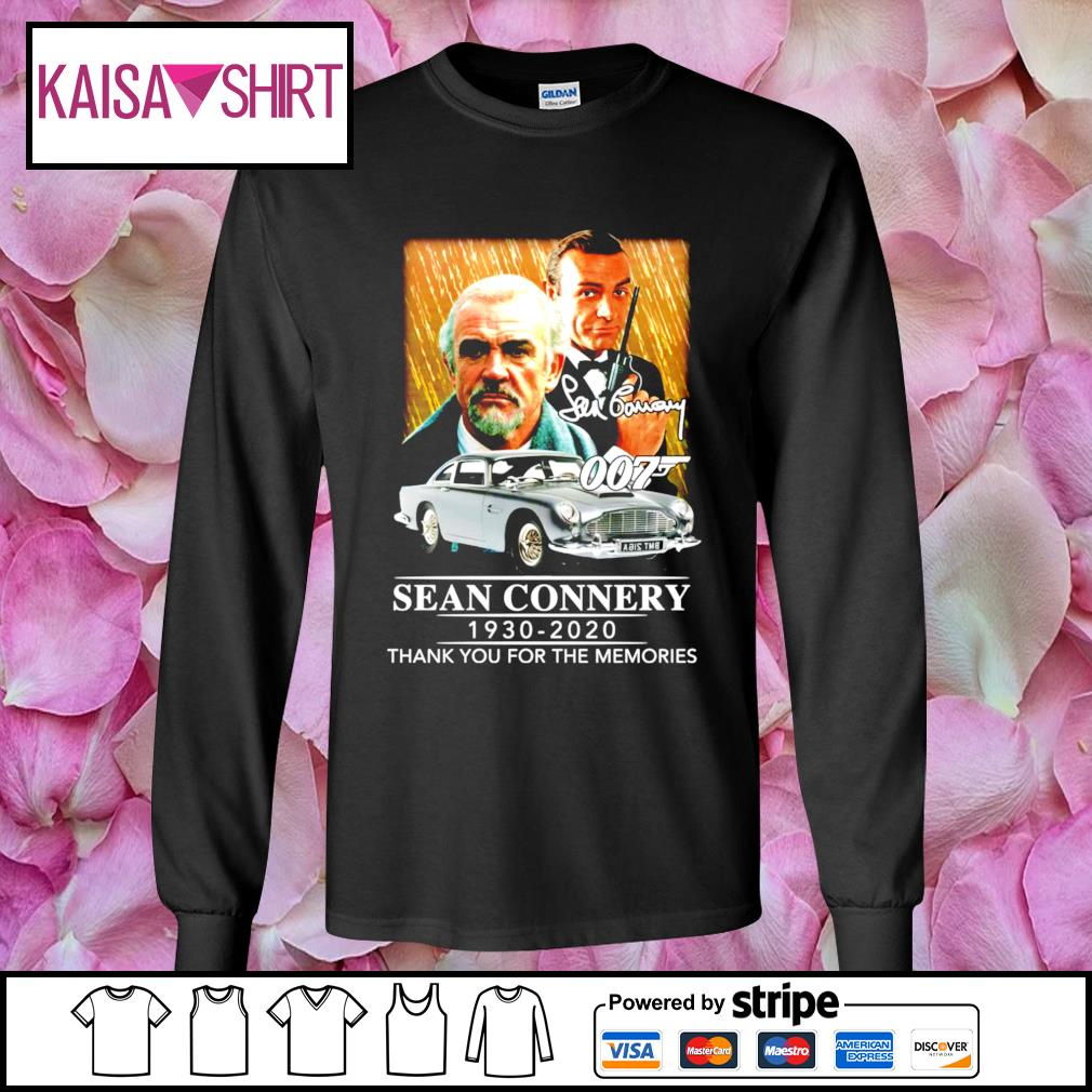 007 Sean Connery 1930-2020 thank you for the memories s longsleeve-tee