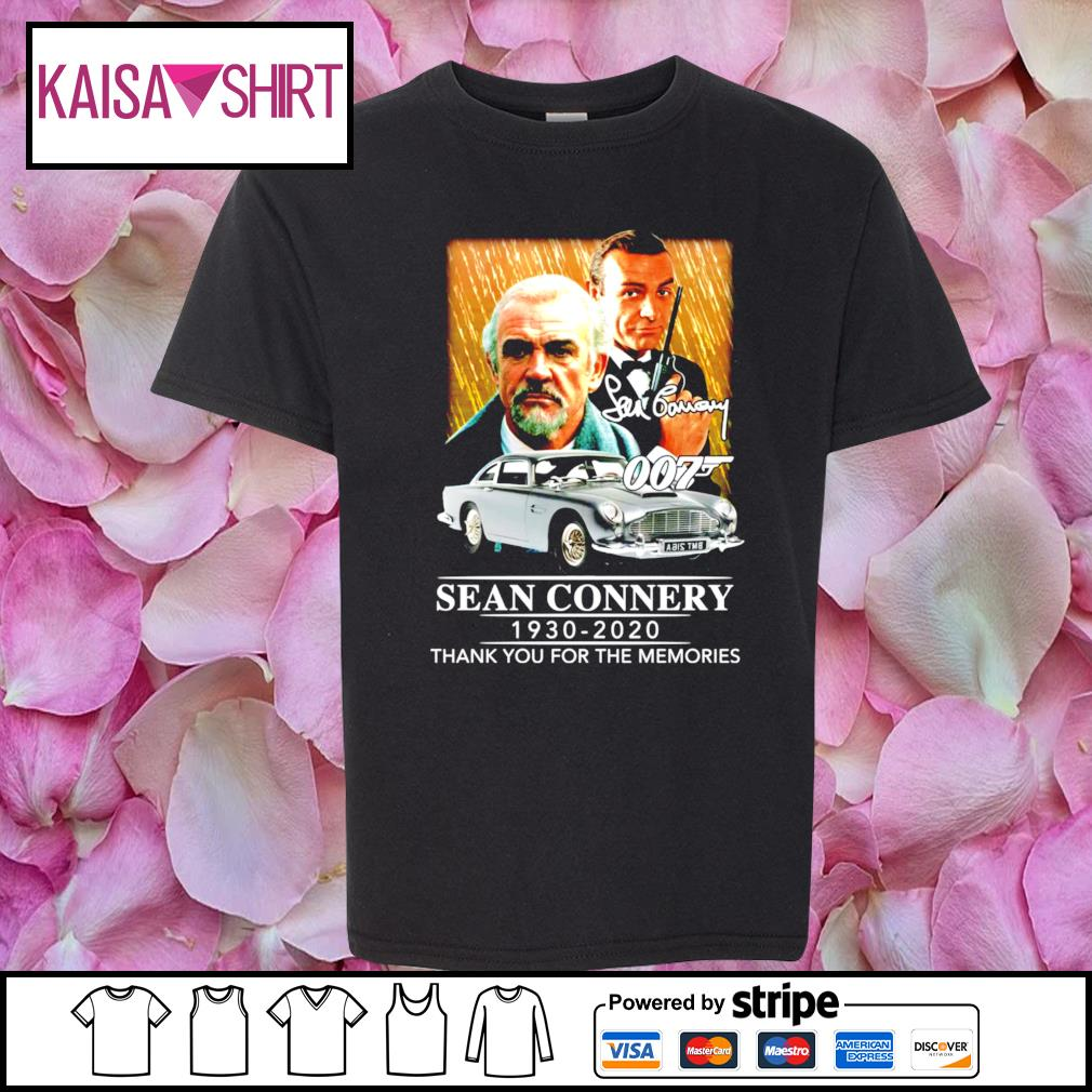007 Sean Connery 1930-2020 thank you for the memories s youth-shirt