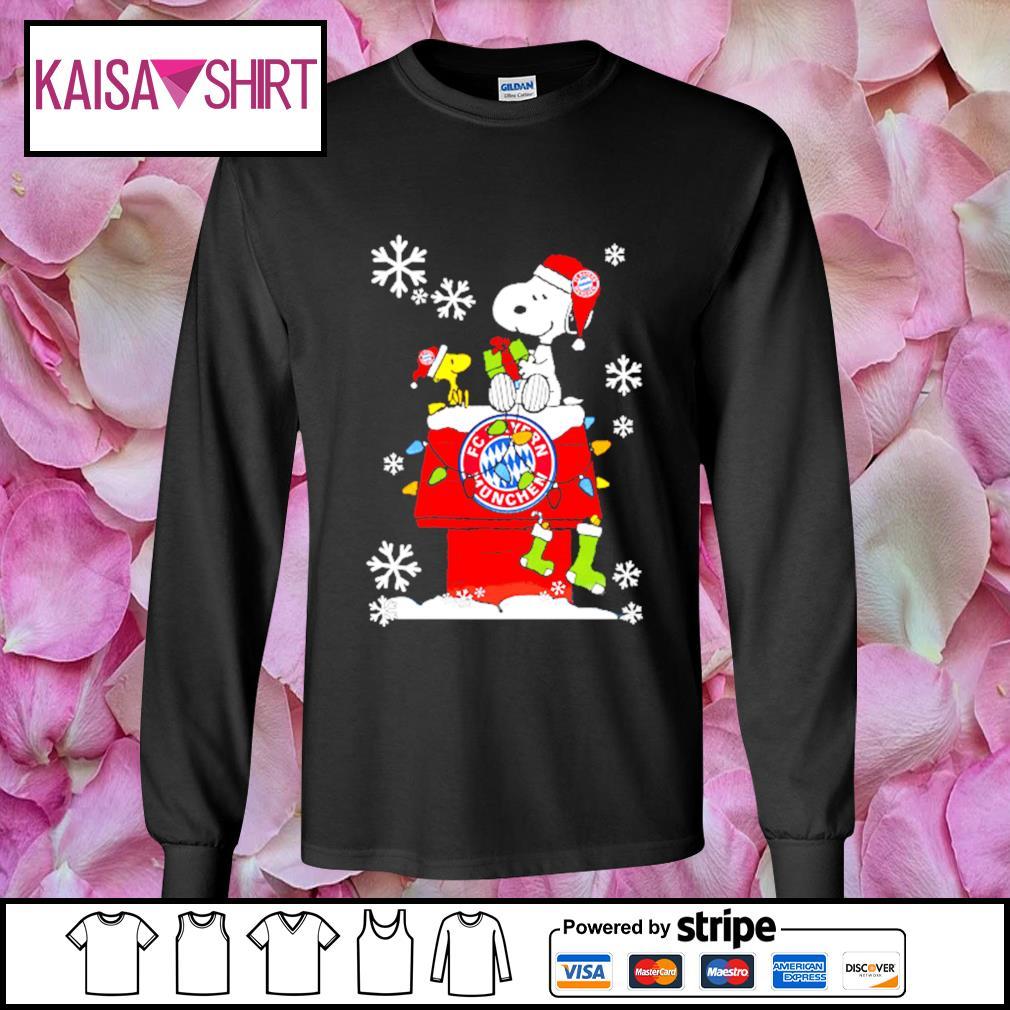 FC Bayern München snoopy and woodstock Christmas shirt, sweater longsleeve-tee