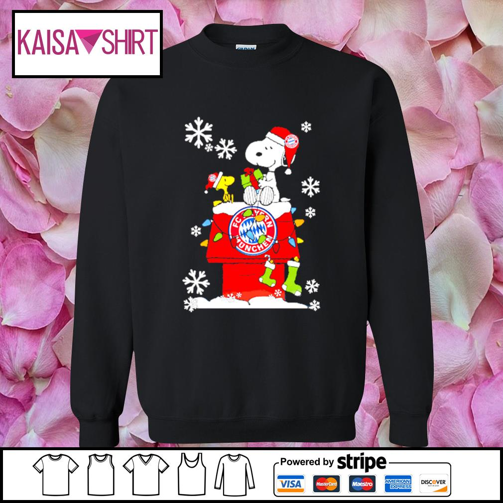 FC Bayern München snoopy and woodstock Christmas shirt, sweater sweater
