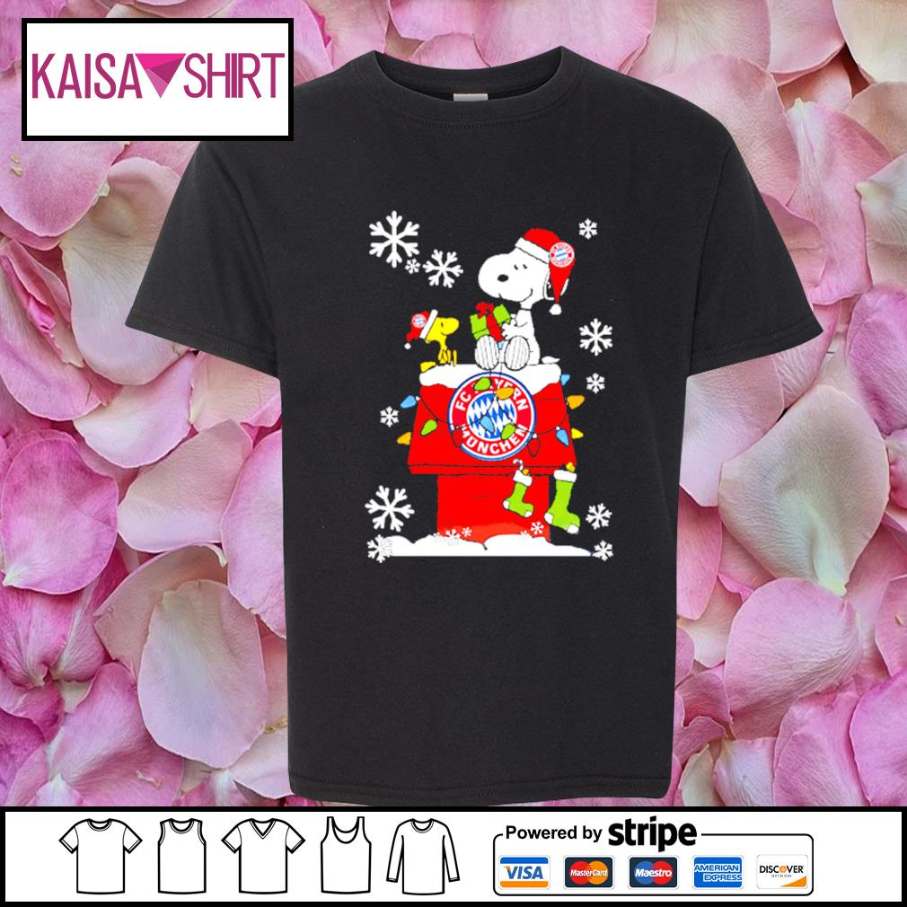 FC Bayern München snoopy and woodstock Christmas shirt, sweater youth-shirt