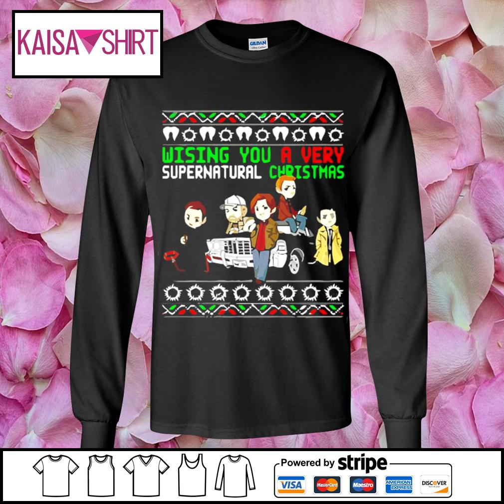 Wishing you a very supernatural Christmas s longsleeve-tee