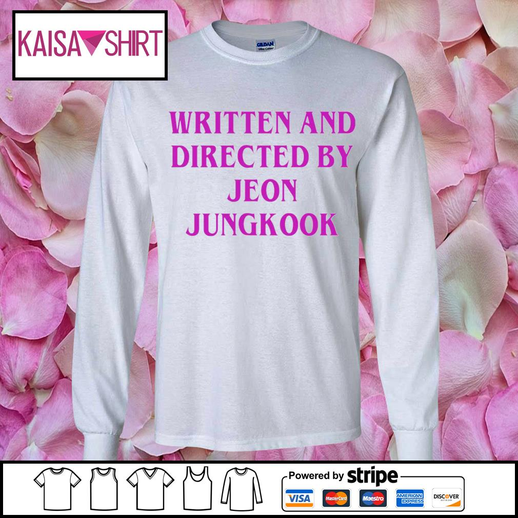 Written and directed by Jeon Jungkook s longsleeve-tee